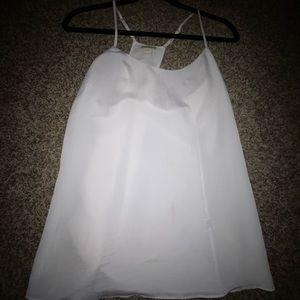 White Racerback Dress Tank